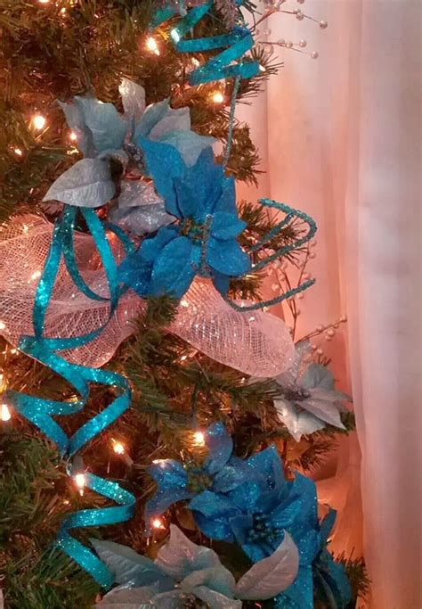 seasontry turquoise and silver christmas tree