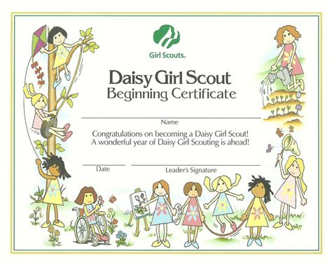 girl scout investiture certificate
