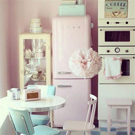 pastel kitchen ideas who likes a smeg refrigerator how this pink smeg