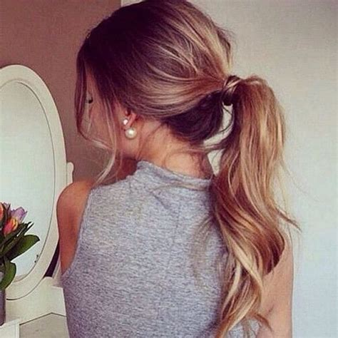 casual pony hairstyles simple quick fashion way of different pony tail hairstyles