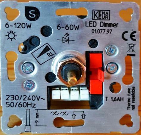 dimmen led verlichting aansluiten led dimmer aansluiten