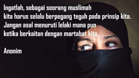 kata kata wanita muslimah  menemani proses hijrah