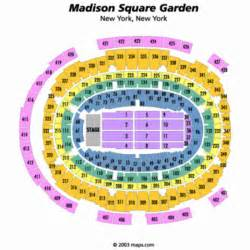 Madison square garden center stage seating chart madison square