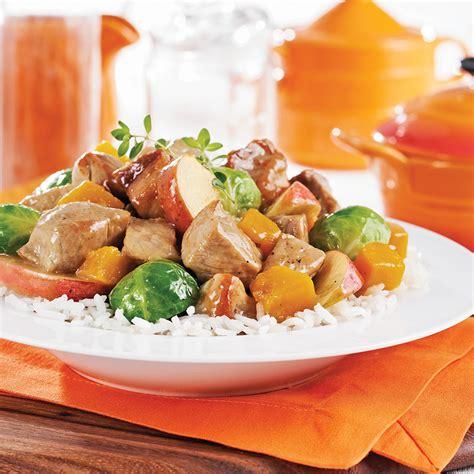 cuisine et mijot駸 mijot 233 de porc pommes citrouille et 233 rable recettes