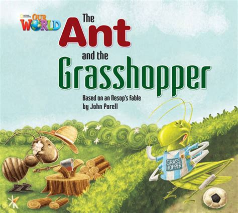the ant and the grasshopper picture book our world big book american the ant and the