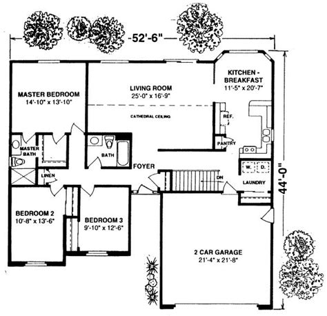 Best Retirement Home Floor Plans by 1500 Square Feet 3 Bedrooms 1 Batrooms 2 Parking Space