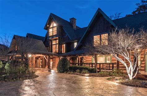 this expansive south carolina log cabin will take your
