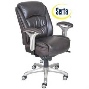 serta desk chair serta smart layers ergonomic leather manager office chair