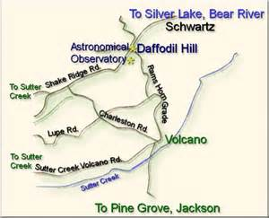 volcano california map map of daffodil hill volcano ca list