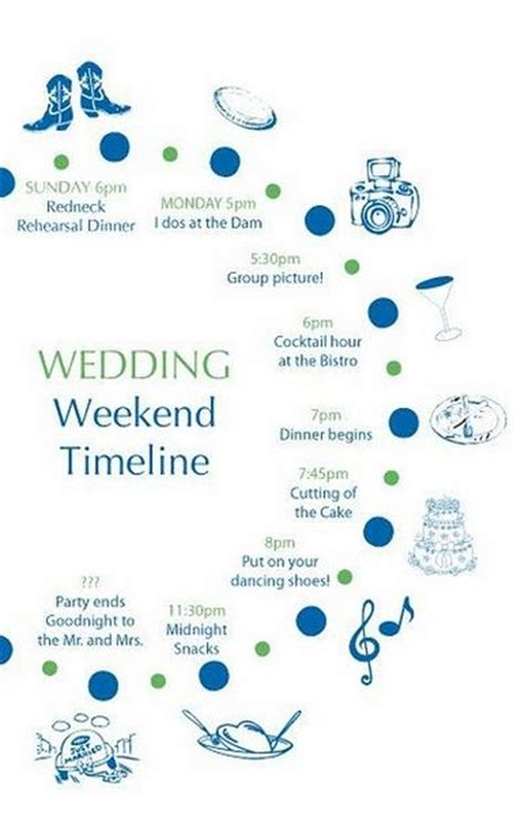 Wedding Day Timeline Articles At The Broke Ass Bride Bad Ass Inspiration On A Broke Ass Budget Wedding Schedule Template For Guests
