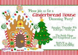 gingerbread house decorating invitation printable custom invitations