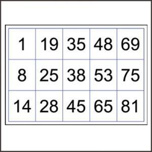 printable number bingo cards 1 90 bingo cards numbered to 90 printable box n dice