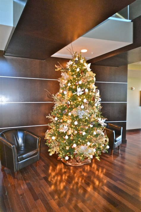 gold and green christmas tree christmas pinterest