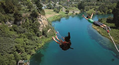 taupo bungy swing great lake taupo bungy jumping in taupo