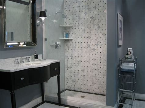 bathroom ideas gray shade marble bathtub wall surround carrera marble beautiful bathrooms pinterest