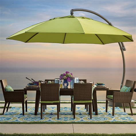 Frontgate Patio Umbrellas 13 European Side Mount Patio Umbrella Traditional Outdoor Umbrellas By Frontgate