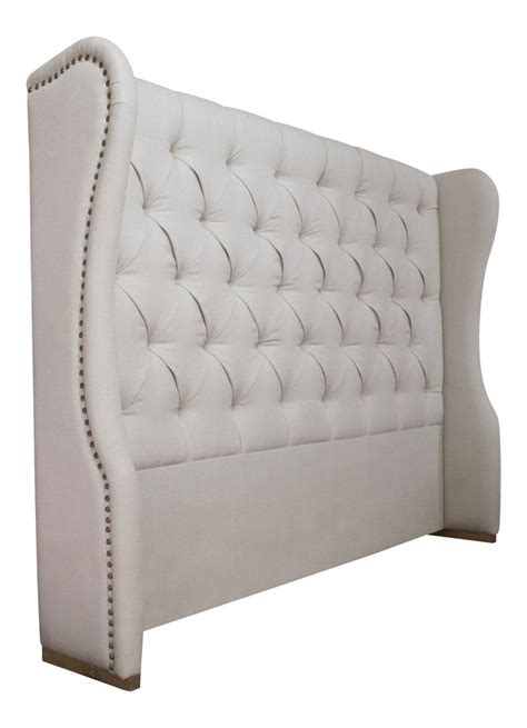 beds headboards upholstered linen headboard la residence interiors