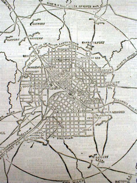 map of atlanta during civil war best 1864 civil war display newspaper w large map battle