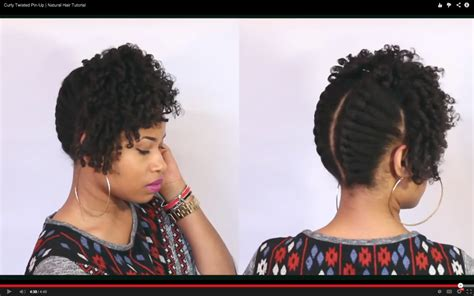 how to pin up natural hair curly twisted pin up kinkycurlycoilyme