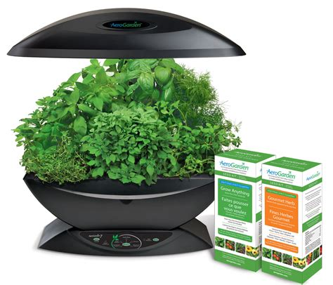 countertop herb garden aerogarden 7 gourmet herb grow anything kit hydroponic