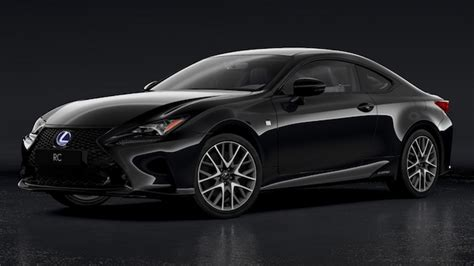 lexus coupe black le lexus rc 300h f sport black edition broie du noir