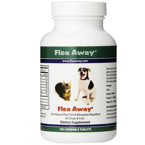 chewable flea and tick for dogs flea away for cats dogs 100 chewable tablets