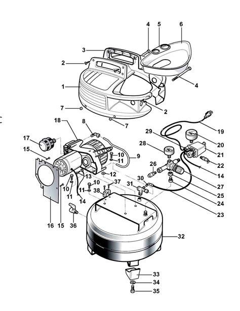 bostitch cap2000p of air compressor parts