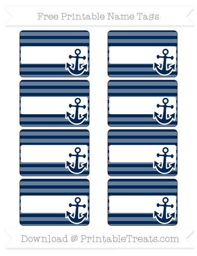 nautical themed names free navy blue horizontal striped nautical name tags