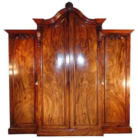 Breakfront Wardrobe by William Iv Mahogany Breakfront Wardrobe Possibly