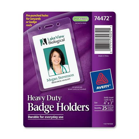 Sun Pvc Id Card Platinum 0 76 avery vertical style heavy duty badge holder ld products