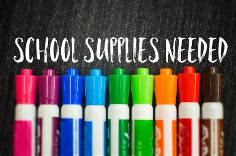 supplies for a school supplies needed the river food pantry