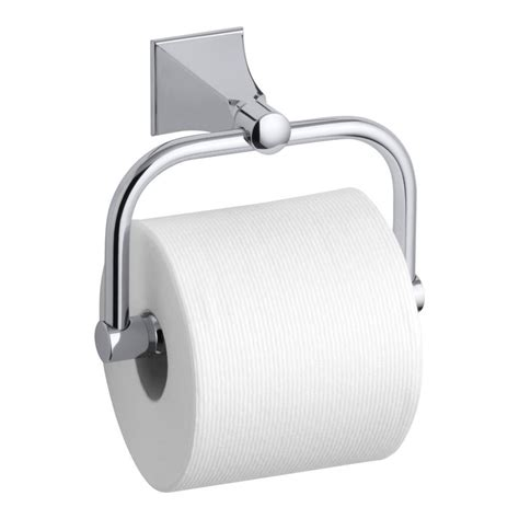 paper holders kohler memoirs wall mount single post toilet paper holder with stately design in polished chrome
