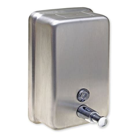 stainless steel bathroom soap dispenser harney hardware 19058 washroom liquid soap dispenser brushed stainless steel atg stores