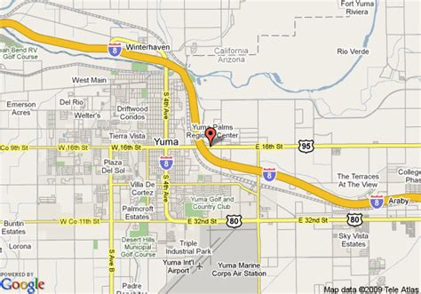 Comfort Inn Arizona Map Of Comfort Inn Yuma Yuma