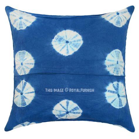 lighted pillows and blankets decorative light blue shibori circles indigo throw pillow