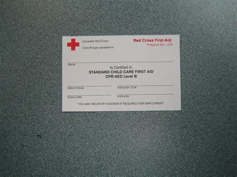 American Cross Card Template by 1st Aid And Cpr Courses Cross 1st Aid And Cpr