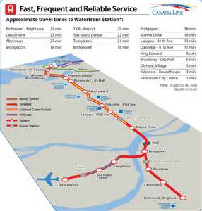 translink canada line map city of richmond bc rapid transit project