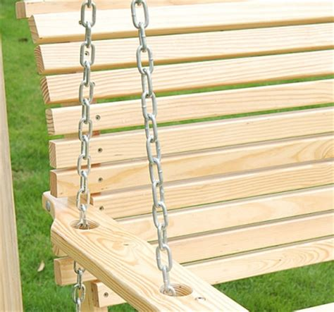how to hang a porch swing with chain high quality 5 foot wood handmade porch swing with hang chain