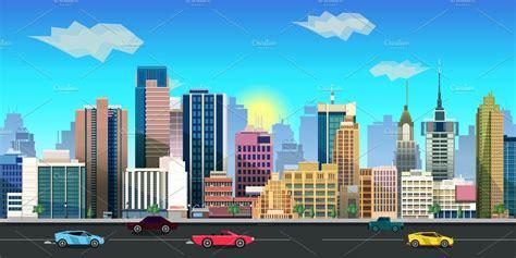city background illustrations creative market