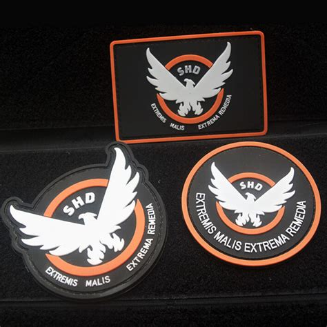 Patch Rubber Pvc Resmob Teks 3 Pcs The Division Shd U S Army Usa Rubber Morale Badge