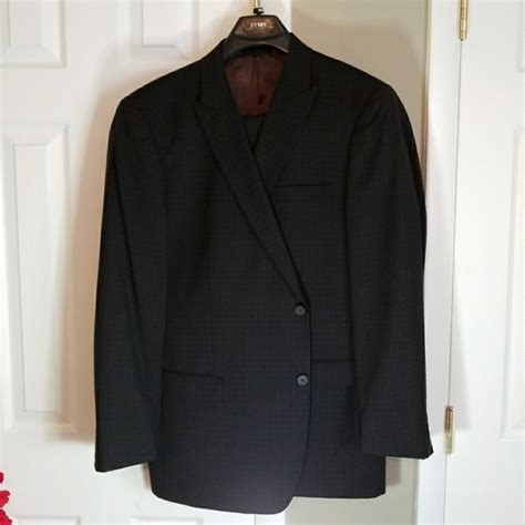 brown pattern suit 90 off marc jacobs other marc new york black with brown