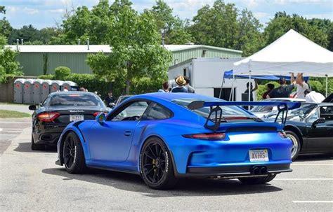 Matte Blue Porsche 991 Gt3 Rs Teamspeed Com