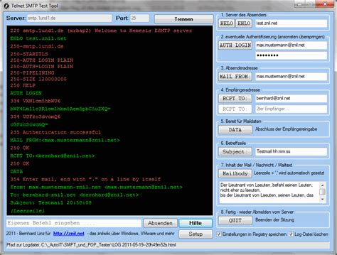 test smtp server zniltools telnet smtp test tool znilwiki