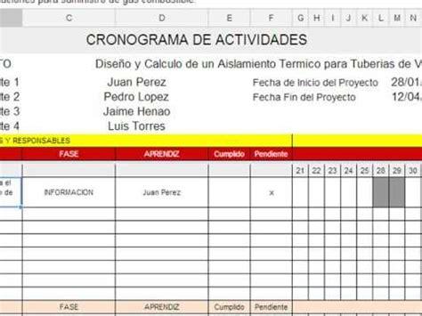 unadm cronograma de actividades diarias como elaborar un cronograma de actividades blog educativo