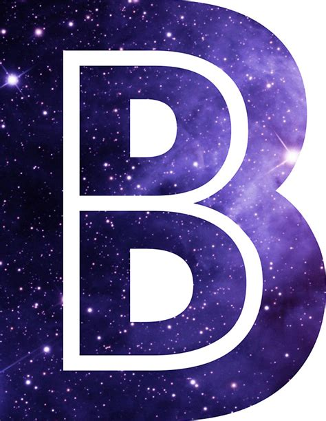 Home Decor Letters Of Alphabet by Quot The Letter B Space Quot Stickers By Mike Gallard Redbubble