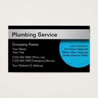 plumbing business cards templates zazzle