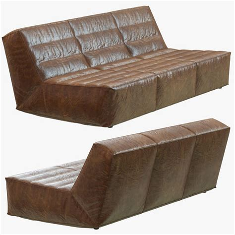 restoration hardware chelsea sofa restoration hardware chelsea leather sofa 3d model max obj