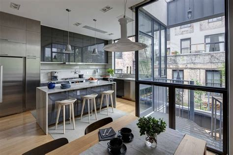 townhouse interior design contemporary appearance camouflaging brooklyn roots slate