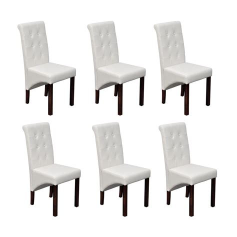 chaise simili cuir blanc acheter chaise antique simili cuir blanc lot de 6 pas