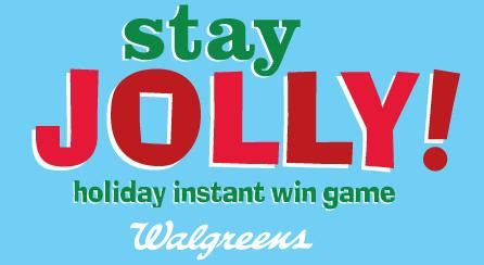 Walgreens Gift Card Return Policy - stay jolly instant win game from walgreens who said nothing in life is free